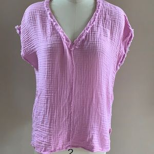 Michael Stars orchid pink cotton gauze top XS